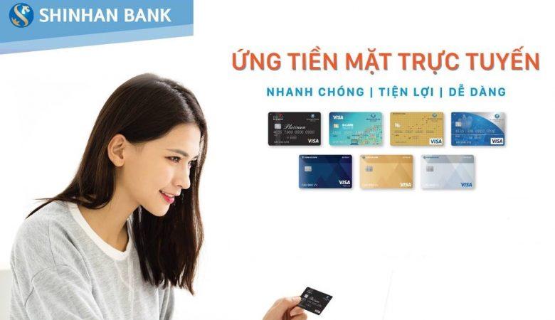 Tạm ứng tiền từ thẻ tín dụng Shinhan Bank