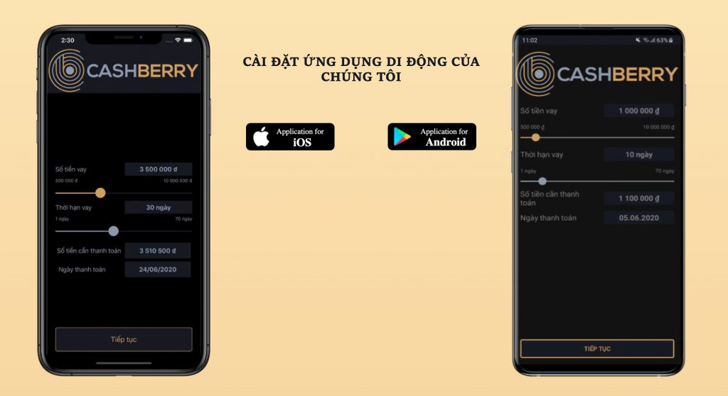 Ứng dụng cashberry