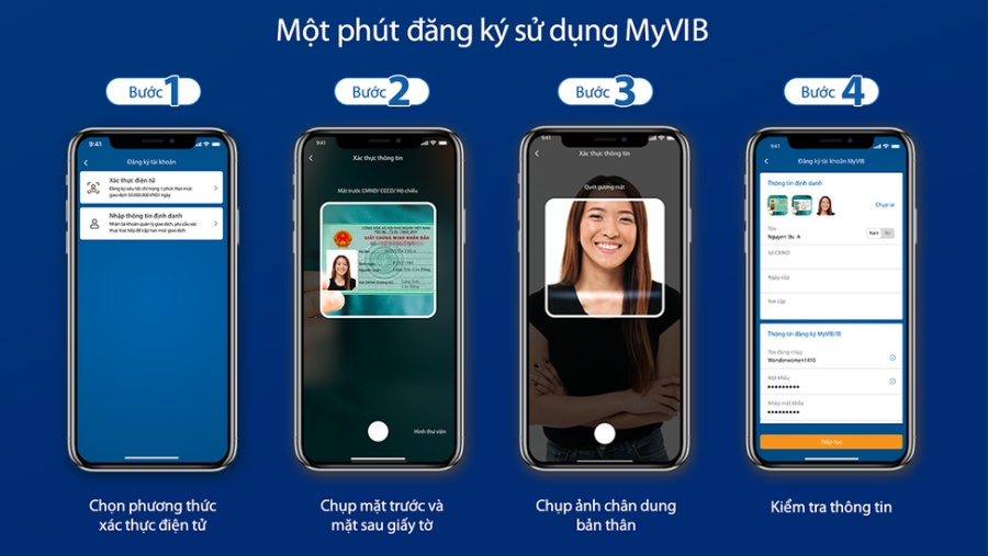 Đăng ký mở tài khoản MyVIB
