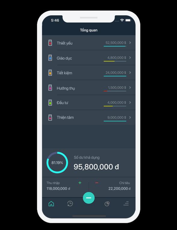 Ứng dụng quản lý tài chính Moneyoi