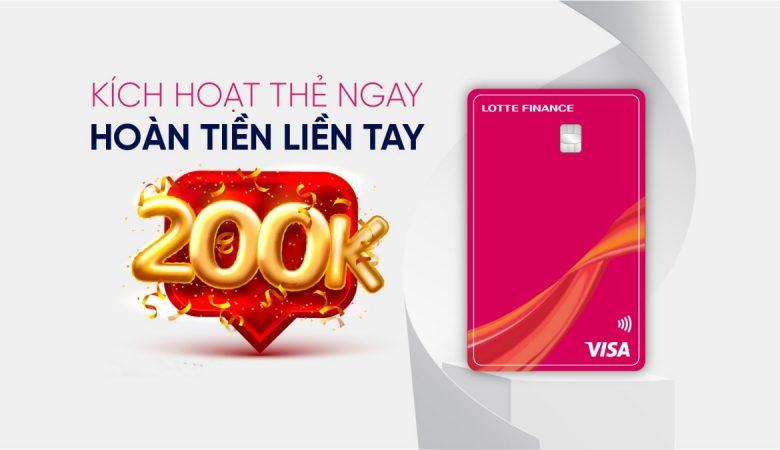 Hoàn tiền thẻ tín dụng Lotte