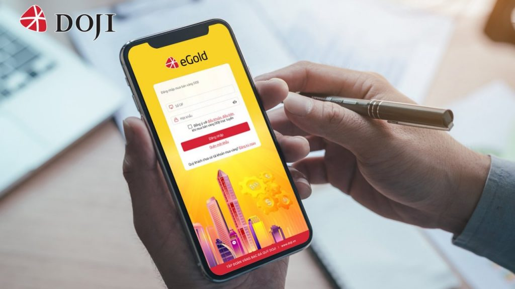 App mua vàng online eGold